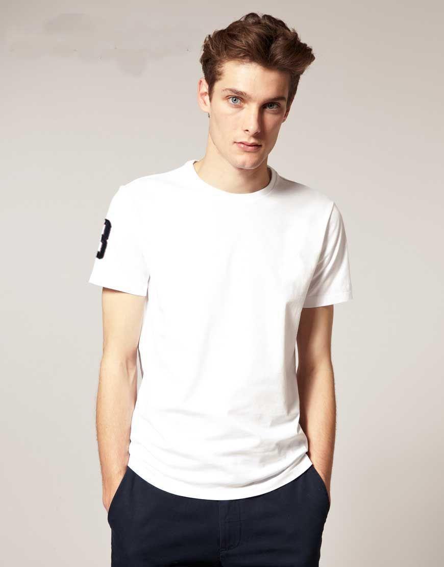 무료 배송! 공장 가격 New Brand classic 원형 칼라 빅 호스 무지 반소매 남성용 폴로 셔츠면 100 % 크기 M - 3XL