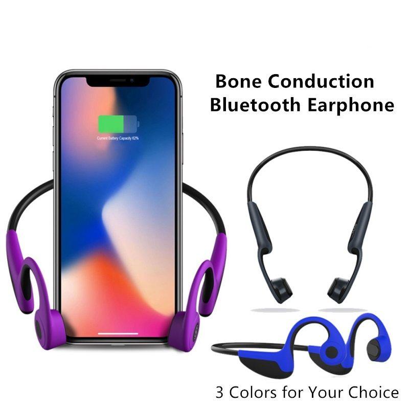 Z8 écouteurs à conduction osseuse sans fil Portable Bluetooth écouteurs casque de sport en plein air stéréo mains libres avec micro pour téléphone mobile