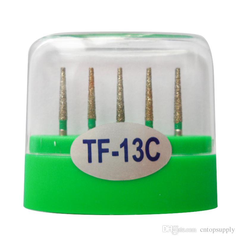 1 paquet (5pcs) fraises diamantées dentaires TF-13C moyen FG 1.6M pour pièce à main dentaire haute vitesse nombreux modèles disponibles