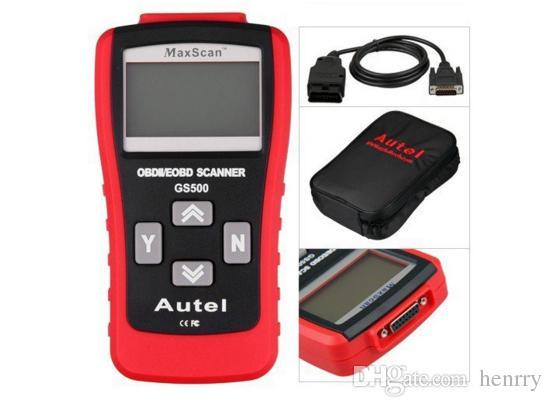 GS500 OBD2 Super Code Reader Autel MAXSCAN GS 500 OBD 2 جديد CAN OBD II OBD2 رمز الماسح الضوئي