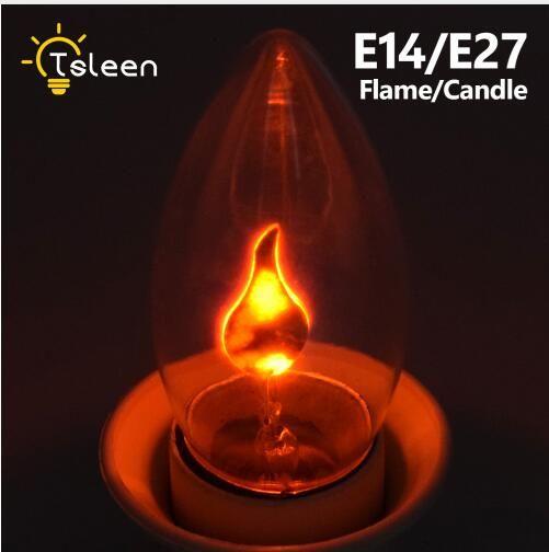E14 E27 복고풍 LED 에디슨 전구 LED 불꽃 효과 화재 빛 깜박 거리는 불꽃 램프 시뮬레이션 파티 크리스마스 장식 AC220-240V