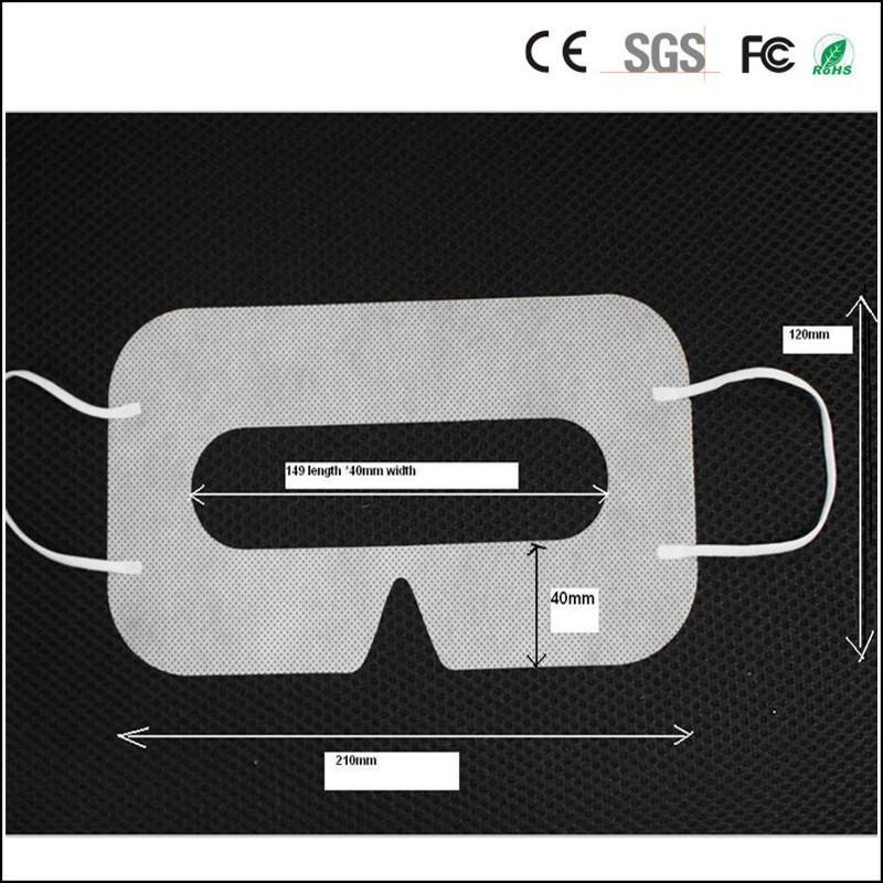 100pcs Higiene Protecção VR Eye Mask Preto descartável Eyemask não tecido máscara pad para 3D VR Óculos