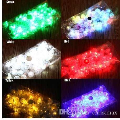 10 teile / los runde ball tumbler led ballon lichter mini flash leuchtende lampen für laterne bar weihnachten hochzeit dekoration