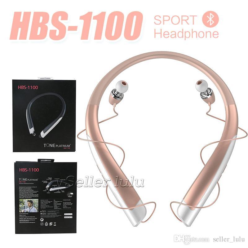 Top Quality HBS 1100 Bluetooth Sem Fio Fones De Ouvido HBS1100 Com Pacote de Varejo Duro CSR 4.1 Neckband Esportes Fones De Ouvido Fones De Ouvido com Microfone