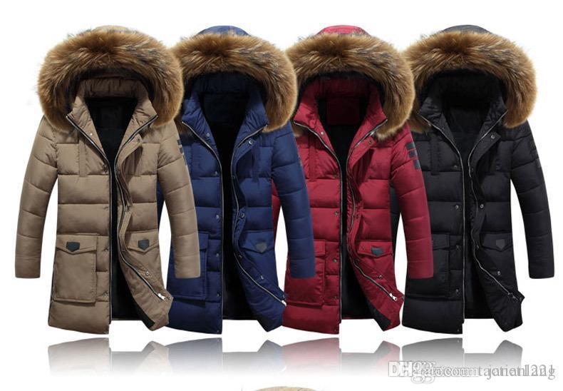3XL épais manteau d'hiver des hommes matelassée à manches bouffantes Veste chaude Mode Homme Pardessus Parkas Outwear coton matelassé avec capuche Manteau J161054