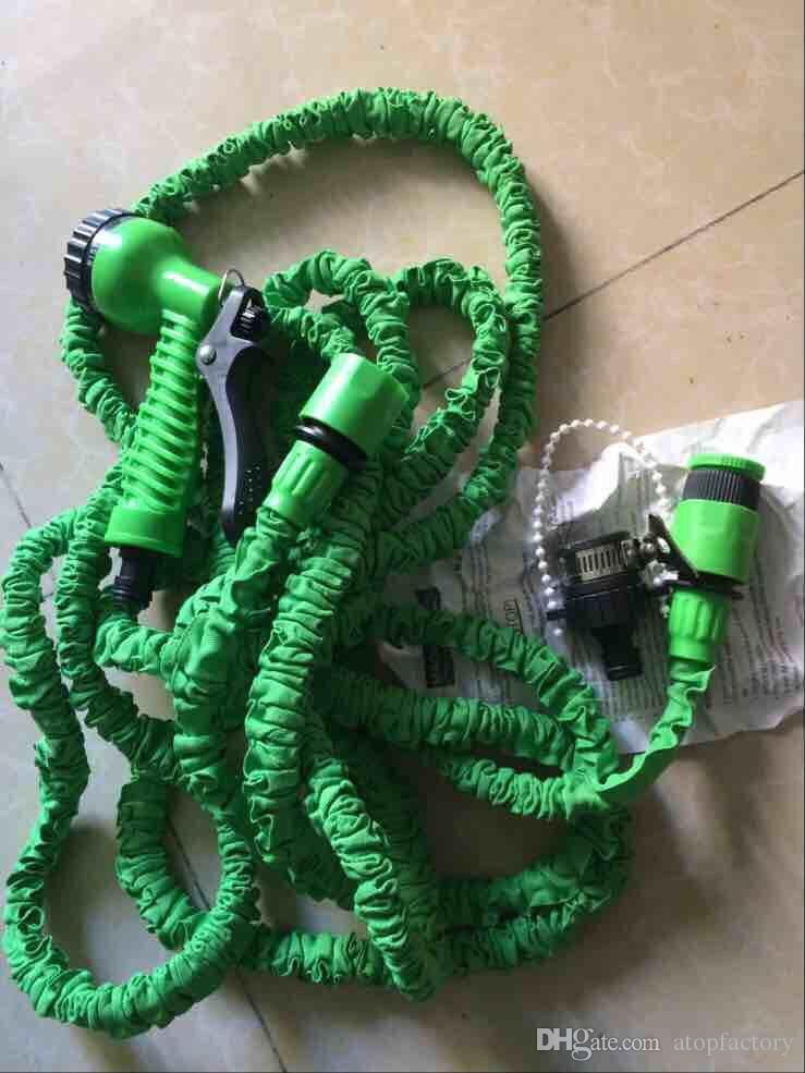 Factory Supply Plastic Materials A+Quality Blue Water Spray Nozzle Sprayers &Expandable Flexible Water hose Garden Pipe Set