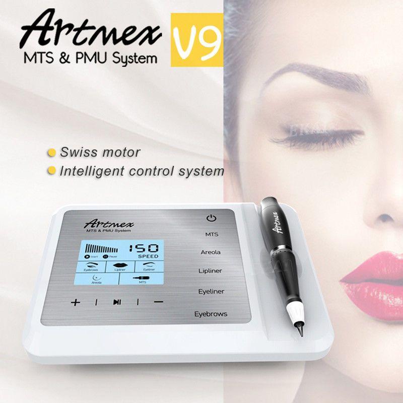 New Arrival Artmex V9 Digital 5 in 1 Permanent Makeup Tattoo Machine Eyes Brow Lip Line Rotary Pen MTS PMU