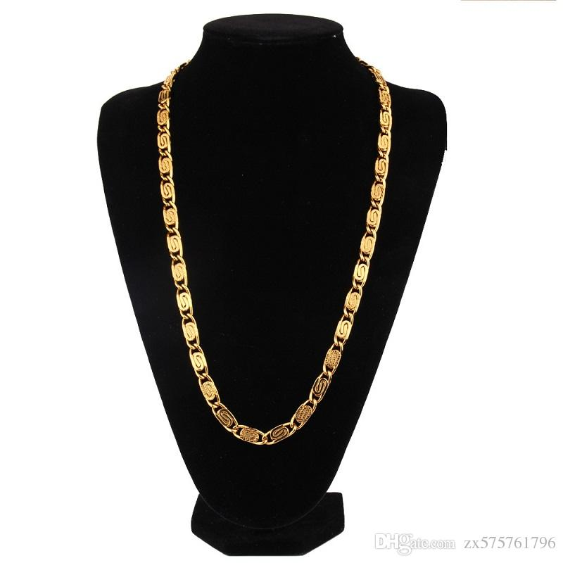 2020 Men Hip Hop Gold Necklaces Crude Chains Design Jewelry 60cm Long Chain Filling Pieces Men Fashion Hip Hop Chain Necklace For Mens From Zx575761796 7 77 Dhgate Com