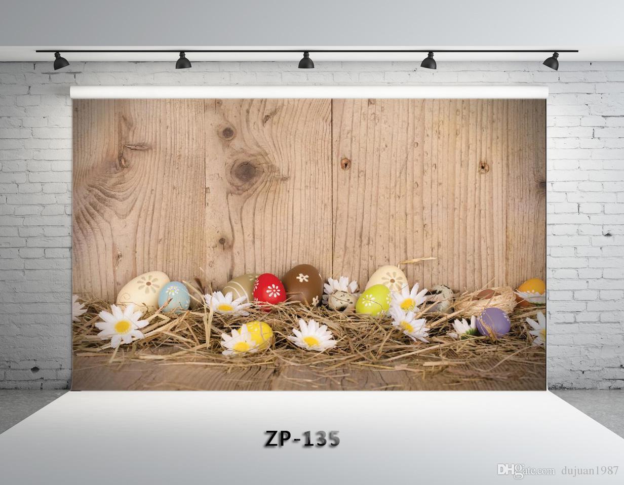 Vinyl Custom Easter day theme Photography Backdrops Prop digital printed Photo Studio Background ZP-135