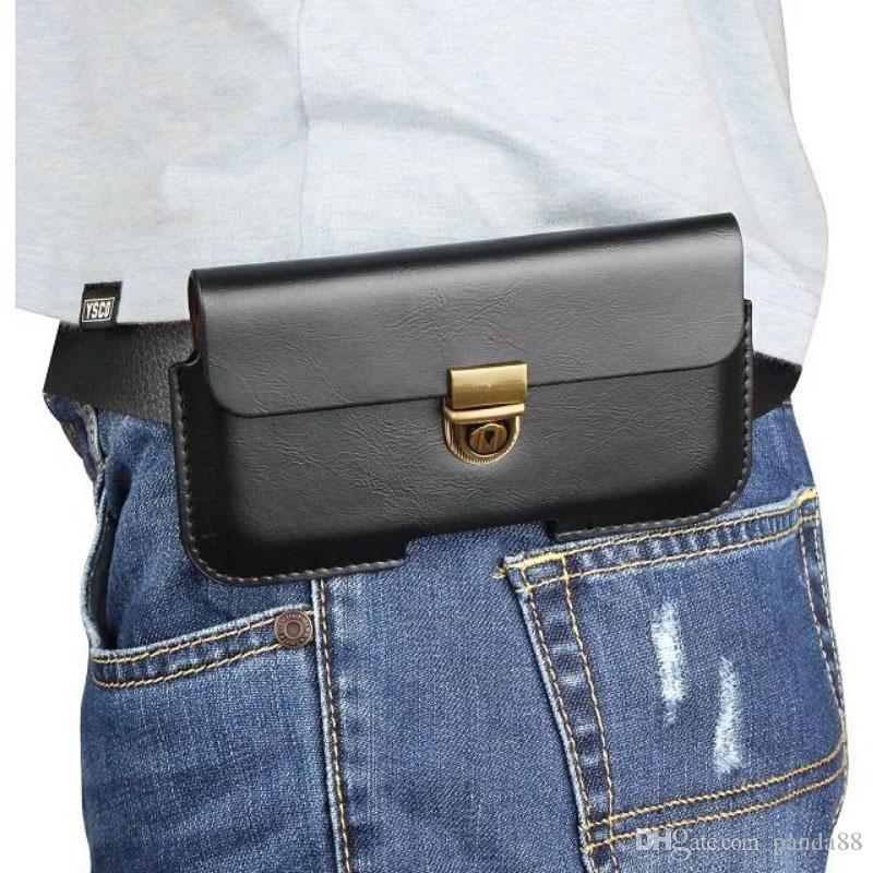 Custodia universale in PU con clip da cintura per LG Q7 / Fortune 2 / K8 Plus
