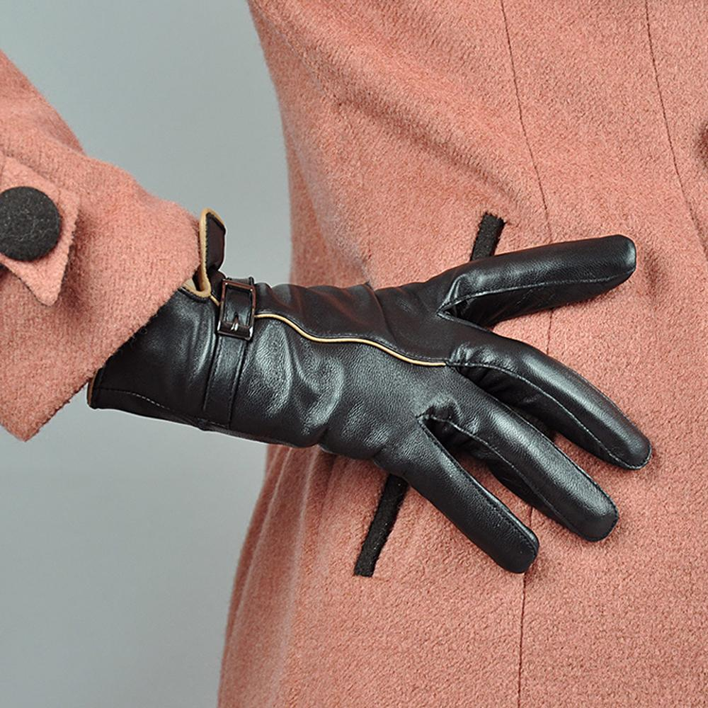 Women Ladies Long Leather Gloves New Winter Fashion Evening Party Full Finger