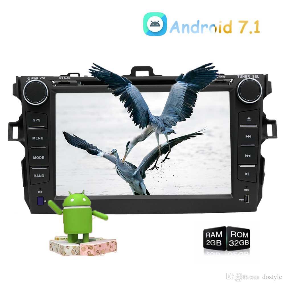 Android 7.1 Car Radio In Dash GPS Car Stereo for TOYOTA Vehicles GPS Navigation Auoradio Bluetooth car DVD CD Player Headunit USB