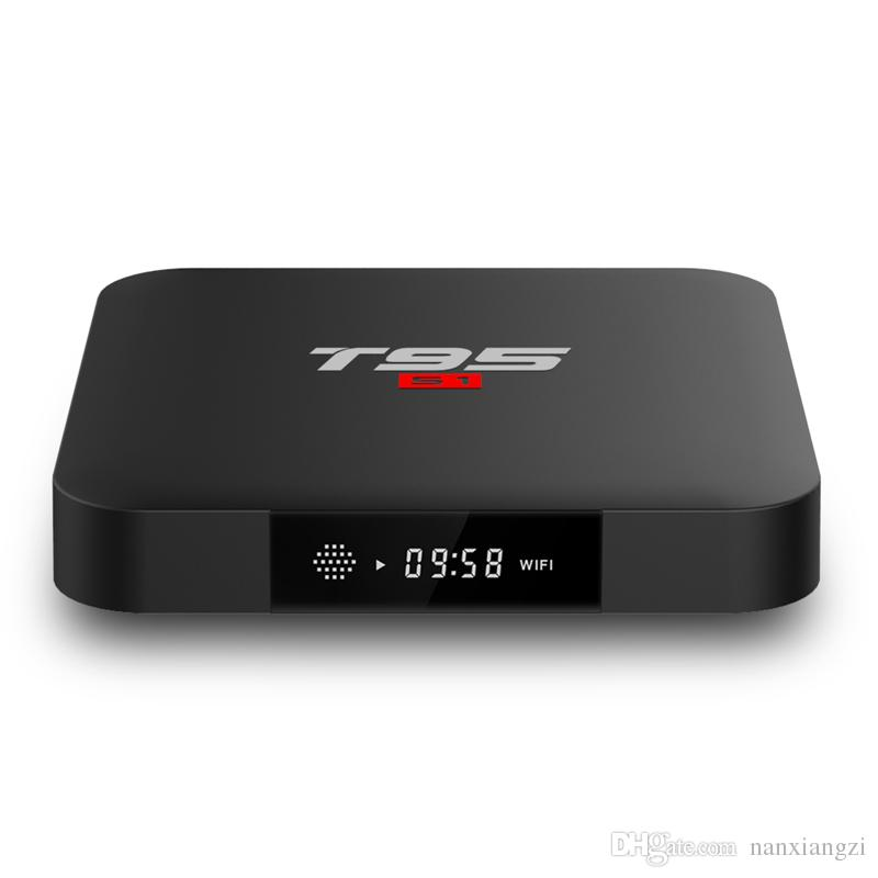 T95S1 TV Box 2G 16G Amlogic S905W Quad Core CPU 2.4G WiFi Android 7.1 Set Top Boxes Media Player