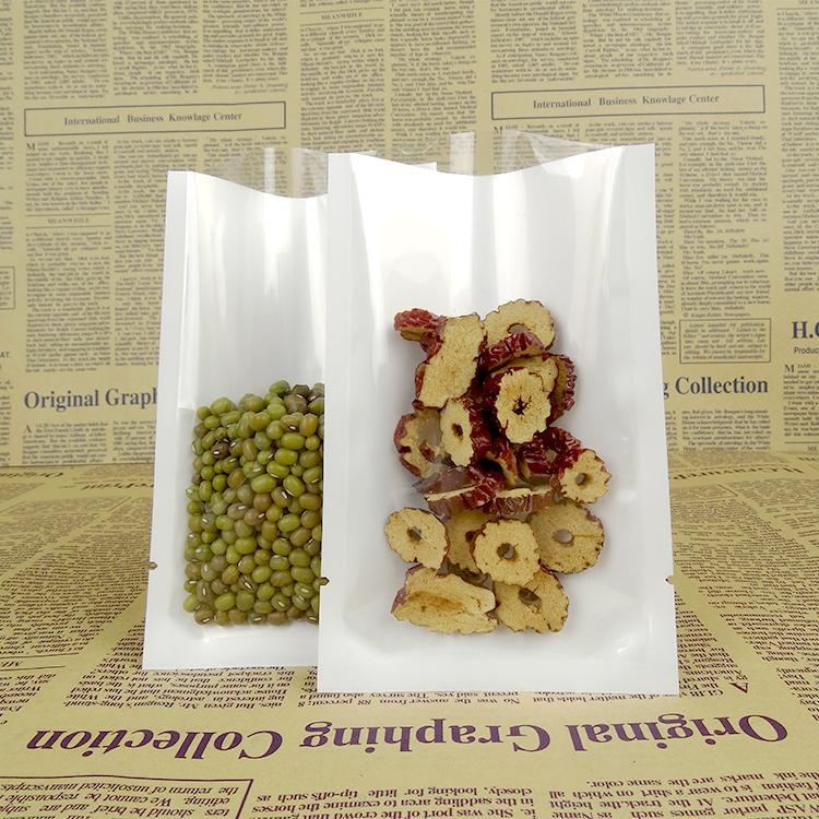 Wholesale 6*9cm Transparent Plastic Retail Vacuum Pouch Open Top White / Clear Heat Sealing Packaging Bag Coffee Storage Bag