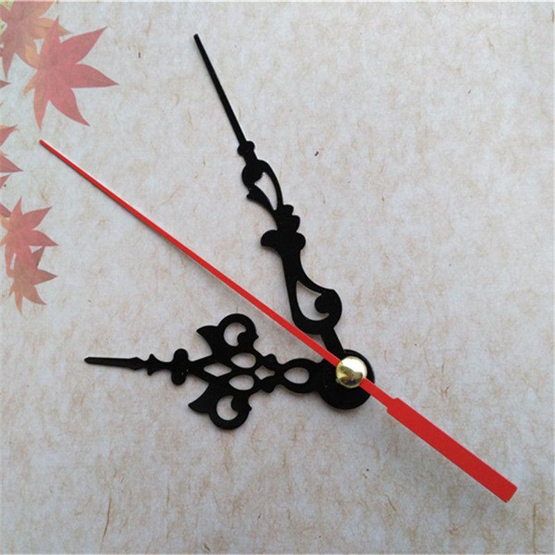 Groothandel 50 stks zwarte metalen klok handen voor mechanisme met rode tweedehands DIY-accessoires