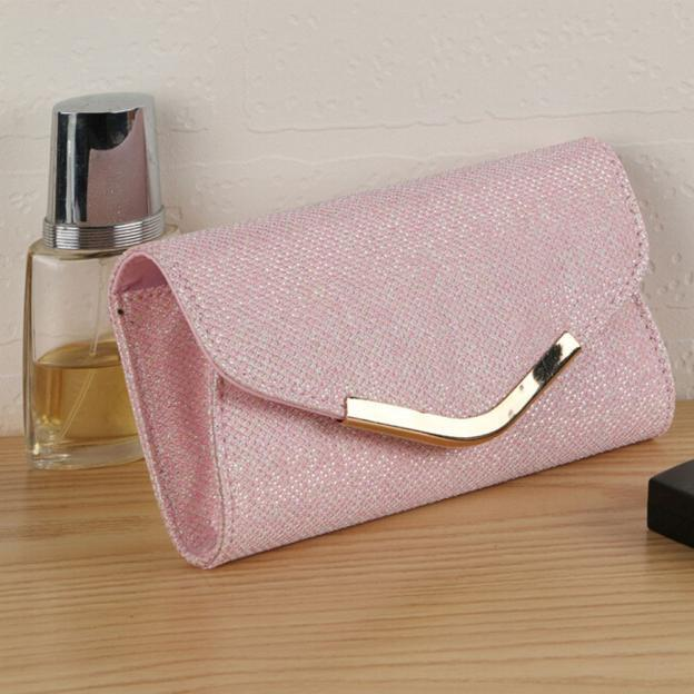 0eb19b978cc Ulrica Mint Ladies Upscale Evening Party Small Clutch Bag Banquet Purse  Handbag Pink Gold luxury handbags women bags designer