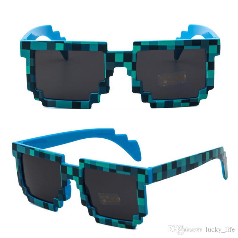 Whosale Moda Çocuk çocuk Güneş Gözlüğü Çocuklar Yetişkinler Için Gözlük Piksel Retro Kare Güneş gözlükleri Knickknack Hediye Çocuklar Için Boys Iyi