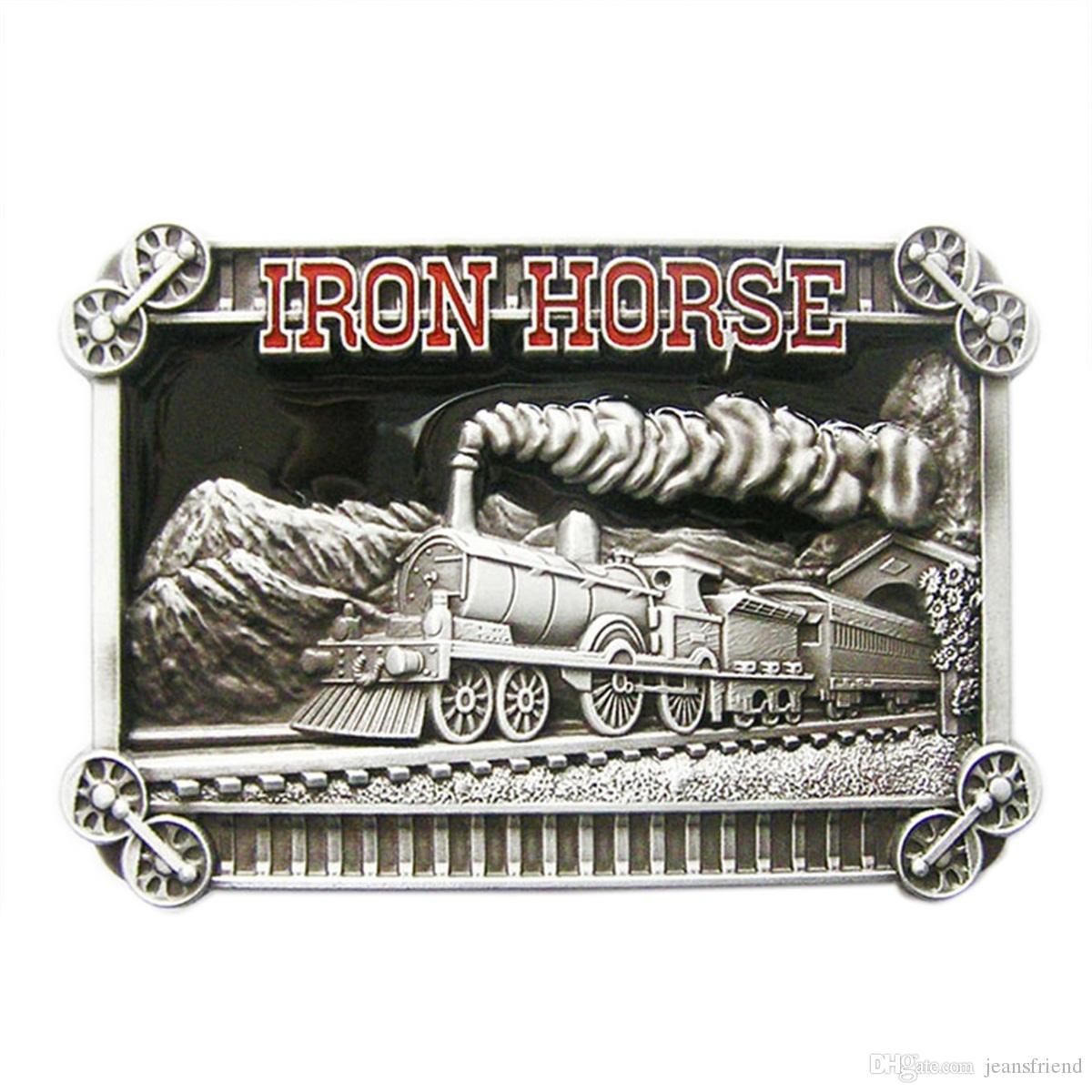 Tren de hierro de hierro Esmalte Cinturón Hebilla Gurtelschnalle Boucle de ceinture