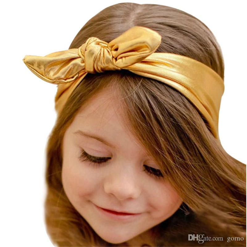 Fashion Rabbit Design Elasticity Wash Gold Baby Girl Headband Hair Accessory baby girl accessories set Headwear head band