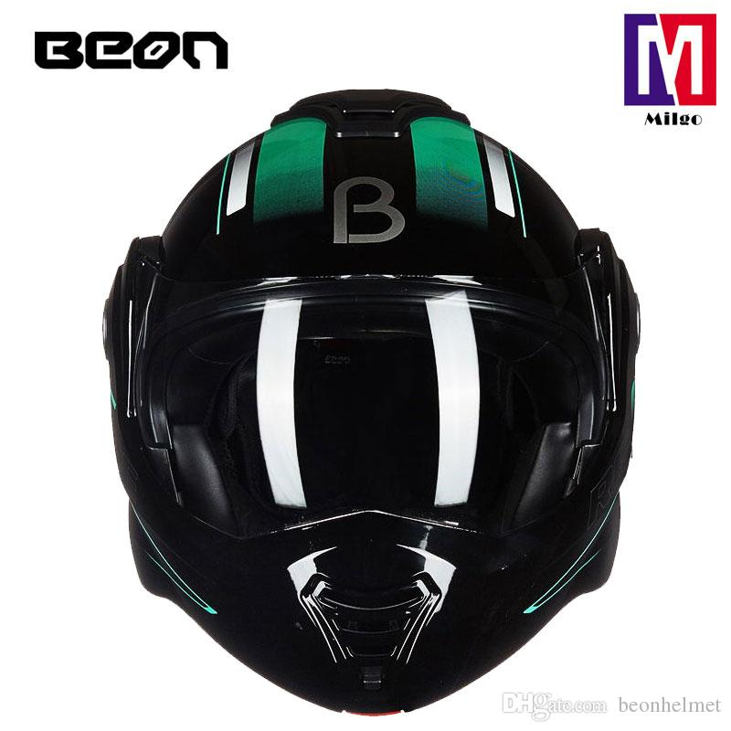 2018 BEON B-702 Full Face Helmet super cool flip up motocycle helmet with Dual Sield System and ECE certification low minumun