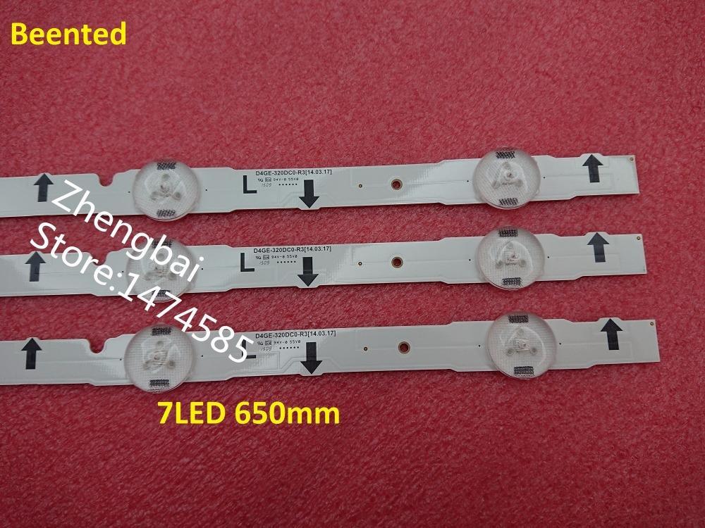 Freeshipping 100%новый 6 шт. / лот светодиодные лампы подсветки полосы для 32-дюймовый ТВ-панель CY-HH032AGLV2H D4GE-320DC0-R3 7LED 650mm