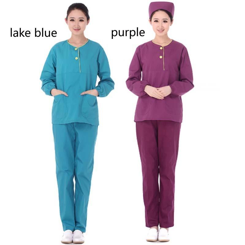 812ae2409cf Women Long Sleeve Medical Scrub   Dental Scrubs Beauty Salon Nurse Uniform  clothes