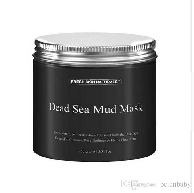 Drop Ship DHL New Fashion 250g Women Mask Mud Pure Body Naturals Mineral Beauty Dead Sea Mud Mask for Facial Treatment