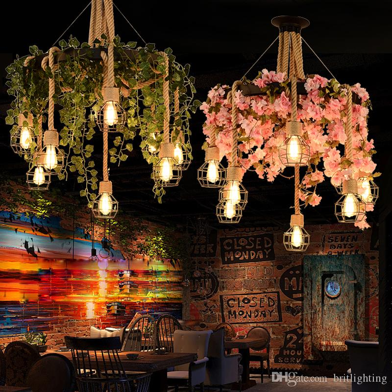 Тематический ресторан КТВ завод подвесное освещение творческий музыкальный бар кафе личная подвесная лампа ретро промышленный ветер цветок подвесной свет