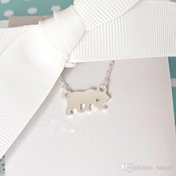 simple flat animal polar bear charm bracelet wild animal foraging dog bear bracelet kitten puppy family pet bracelet for the best gift