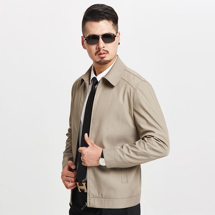 1801 nouveau manteau à fermeture à glissière de père printemps et automne vêtements pour hommes tenue masculine d'âge moyen veste manteau