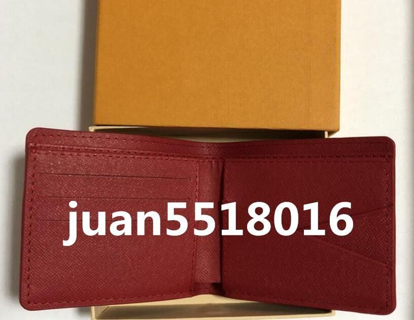 Con la scatola Paris Premium Red Snella Leather Wallet X Rosso Nero raccoglitore del cuoio genuino sacchetto esterno Sport