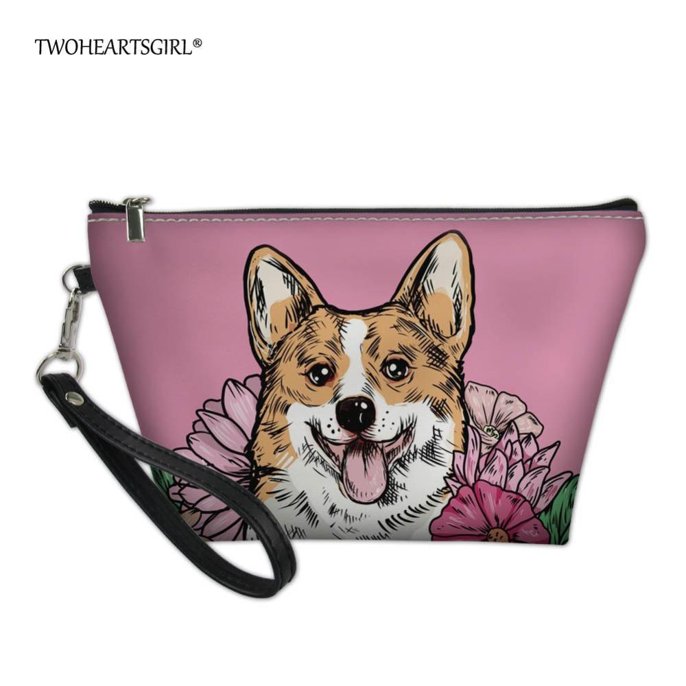 wholesale Zipper Women Makeup Bag Corgi Make Up Bag Waterproof Cosmetic Storage Travel Necessity Beauty Case Wash Pouch