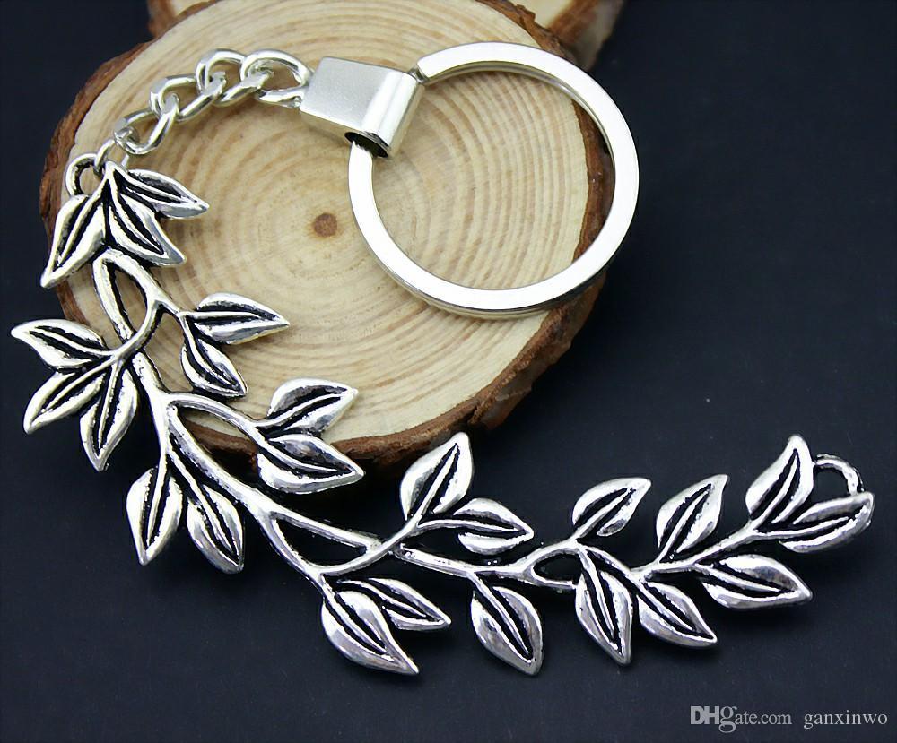 6 Piezas llavero anillos de las mujeres la llave del coche llavero para las llaves Big Branch 87x38mm