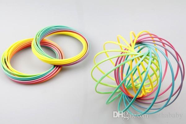 Home> Home & Garden> Home Décor> Novelty Items> Product detail Wholesale 13CM green PVC plastic seven rainbow ring crystal luminous decomp