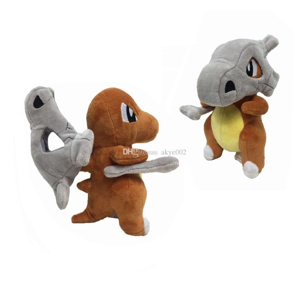 """Hot Sale 7"""" 18cm Cubone Osselait Pikachu Plush Stuffed Doll Toy For Kids Best Holiday Gifts"""