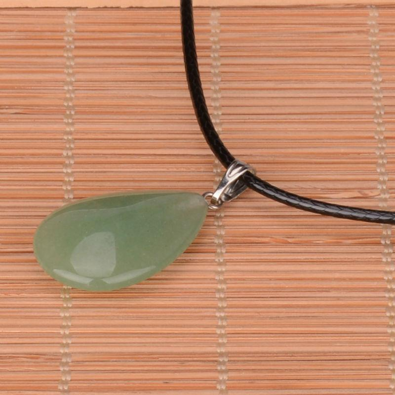 leather necklace and quartz man and woman necklace Choker of natural leather and oval quartz man leather necklace