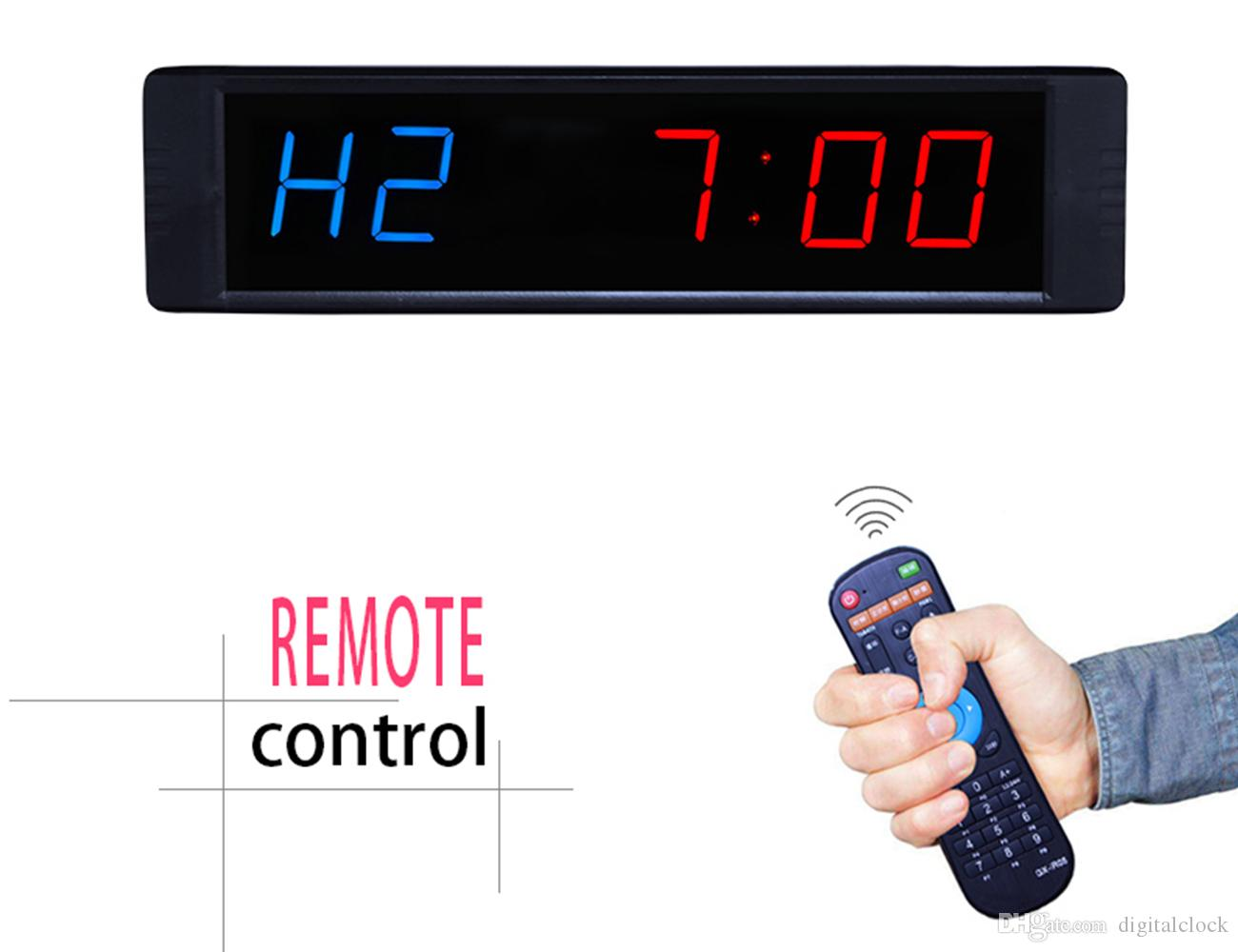 [Ganxin]1 inch 1'' LED Gym Interval Timer Garage Timer Workout Timing Countdown Wall Clock With Remote Control