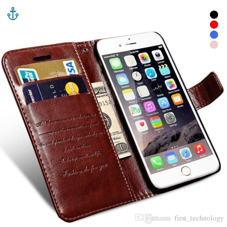 Wallet Leather Case For iPhone 6 6S Plus Luxury Coque Cover for iPhone 6 S 6S Plus Phone Cases With Card Slot