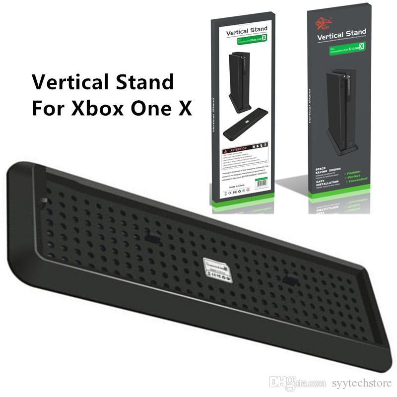 Envío libre del muelle del soporte vertical horquilla del montaje estable soporte base para la Xbox One X Accesorios Consola
