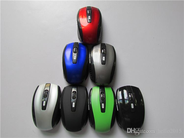6 Anahtar Oyun Fare 2.4 GHz 2000 DPI Fareler Optik Kablosuz Fare USB Alıcı PC Bilgisayar için Kablosuz Dizüstü