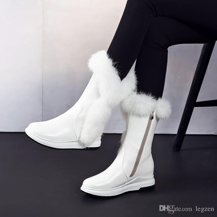 1f2cfc49e71 ... Legen New Cool Women Ankle Boots Winter Platform Round Toe Height  Increasing Boots Female Shoes Woman ...
