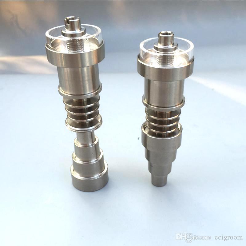 6 in 1 Titanio Dabber Quarzo chiodo Quarzo ibrida di titanio Nail comune 10/14/18 millimetri femminile e maschile in forma 10 millimetri 16 millimetri 20 millimetri enail