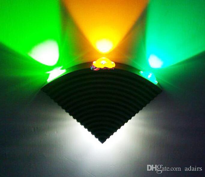 1 قطع ac85-265v 4 واط أدى الشمعدان الحديثة الألومنيوم الجدار مصباح داخلي الديكور أدى الجدار ضوء مروحة شكل ل ktv تركيبات الشرفة