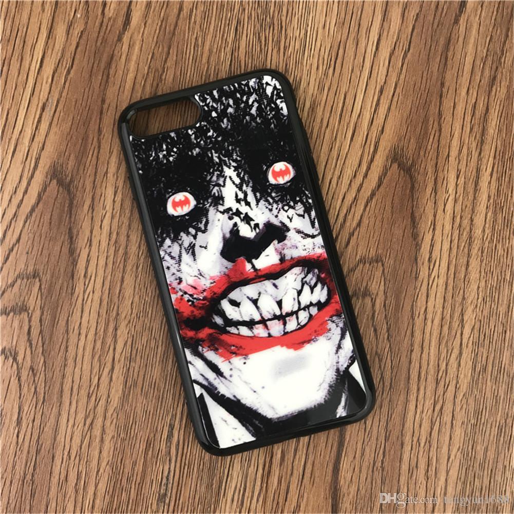 Pour Iphone 6 / 6s / 6 plus / 6s plus / 7/8 cas, bande dessinée miroir puzzle de personnalité peinture mince Tpu Téléphone Case