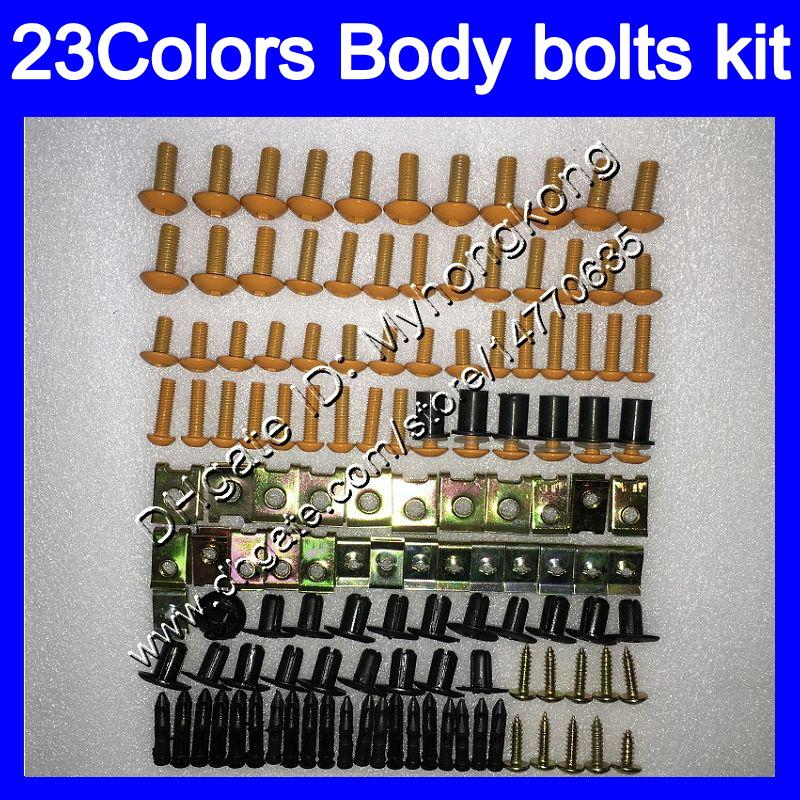 boulons Carénage kit complet de vis pour KAWASAKI ZZR1400 06 07 08 09 10 11 ZZR 1400 2006 2007 2008 2009 2011 Kit boulon écrou vis Nuts Body 25Colors