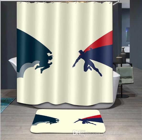 Cosplay TV Movie 3D new style Design Print Pattern Irish Decorations Waterproof Bathroom Decor Fabric Shower Curtains Floor mats sets