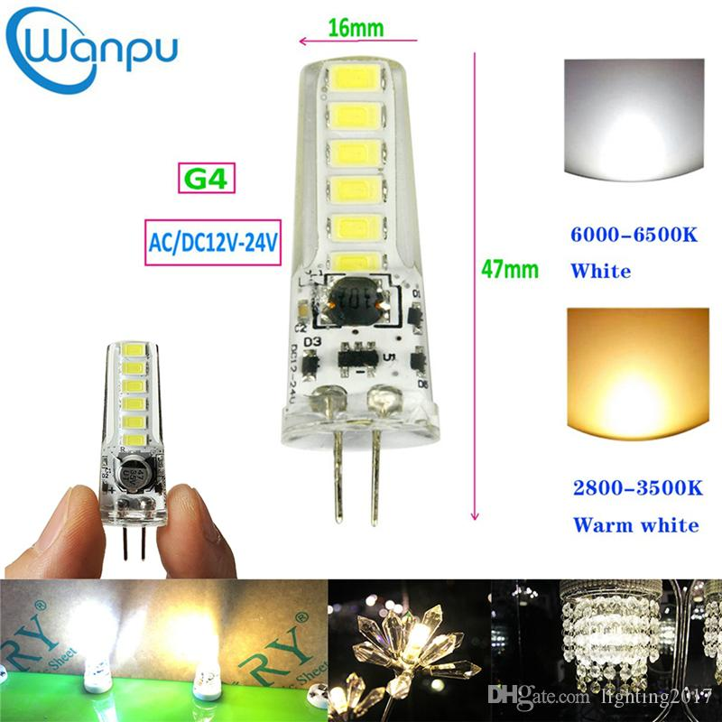 G4 led lights SMD5730 AC/DC12V-24V 2W Mini Led Bulbs Energy Saving Candle Lights Chandelier Light source