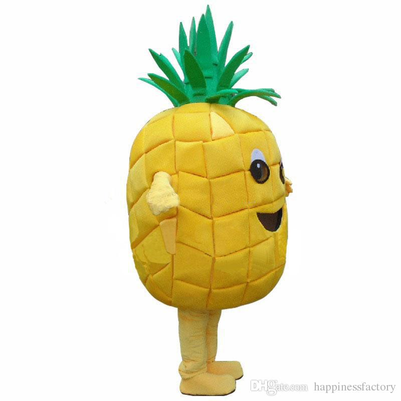 2018 Factory sale hot Pineapple Adult Mascot Costume Halloween Birthday Party Dress Free Shipping