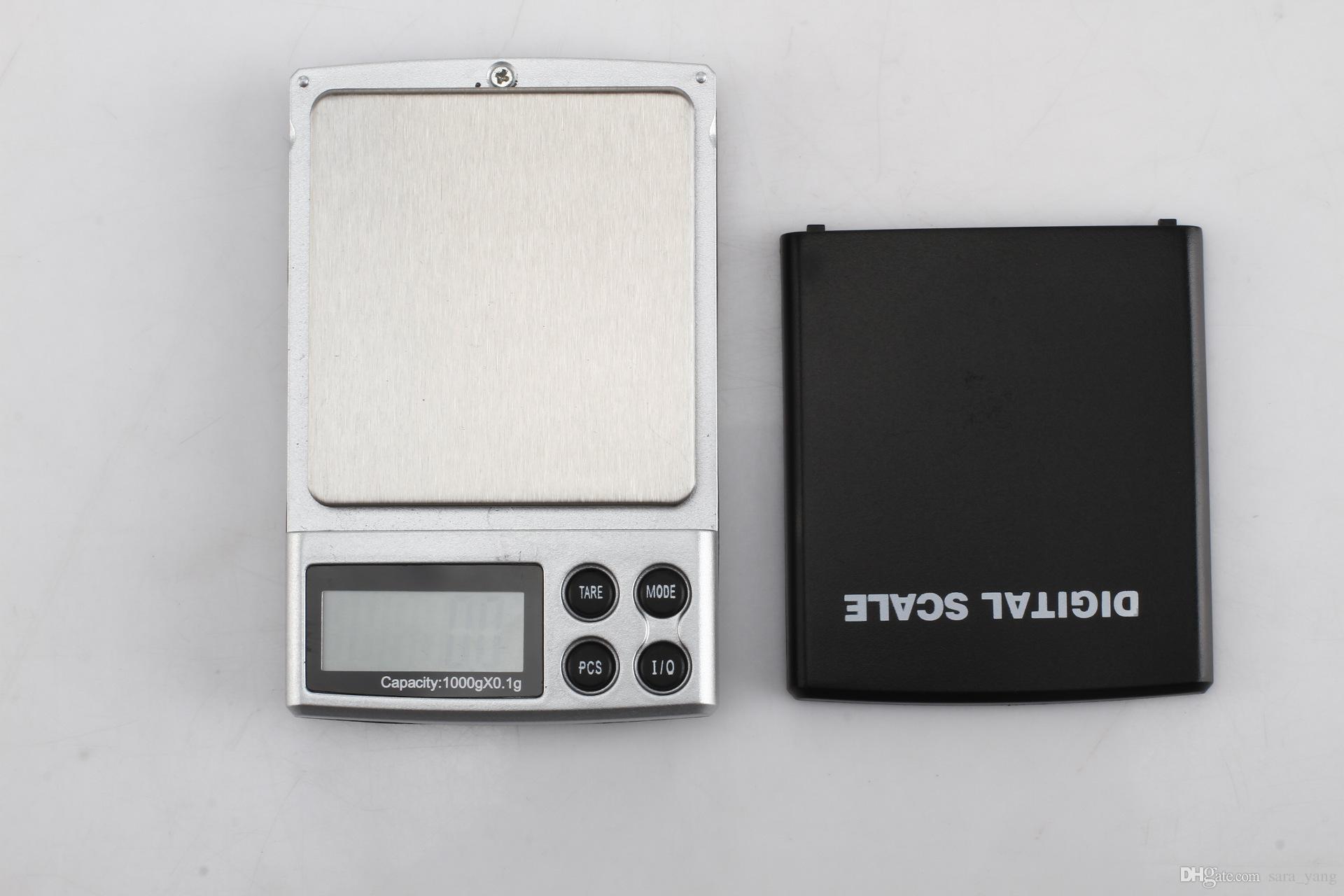 200 unids Portátil LCD Mini Balanza Electrónica Escala de Peso Joyería de Bolsillo Diamante Básculas de Pesaje 1000g x 0.1g lin2488