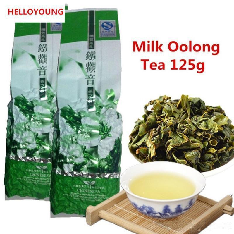 Sunulan Süt Oolong Çay 125g Yüksek Kalite Tiguanyin Yeşil Çay Çinli Organik Süt Oolong Çay Sıcak satış